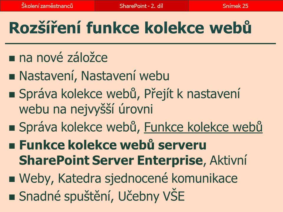 Rozšíření funkce kolekce webů