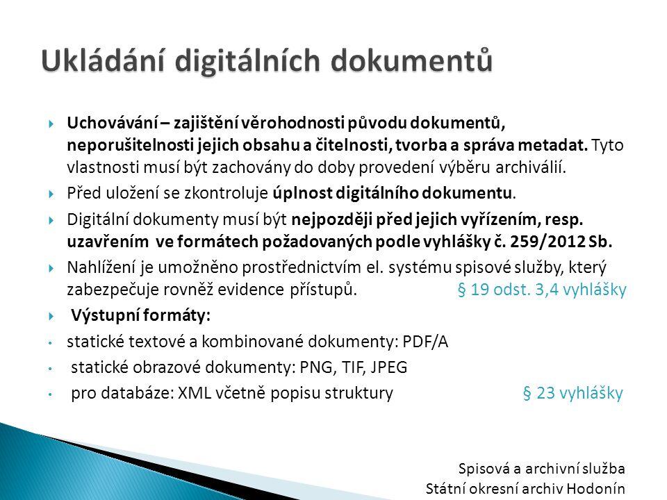 Ukládání digitálních dokumentů