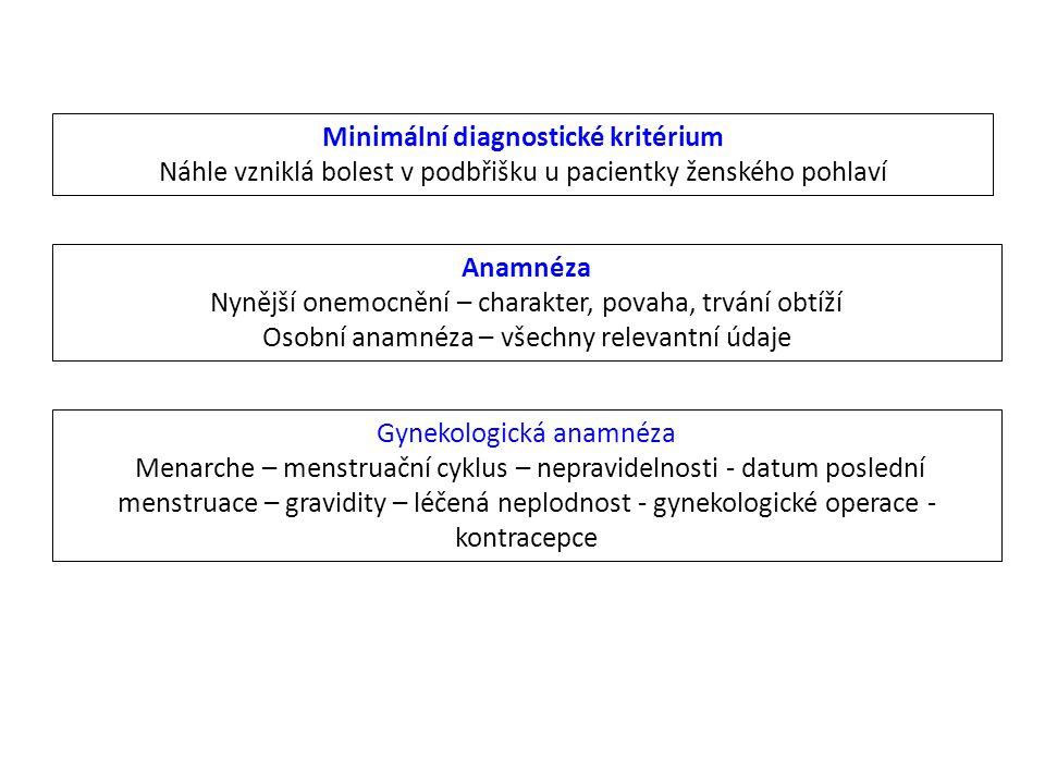 Minimální diagnostické kritérium