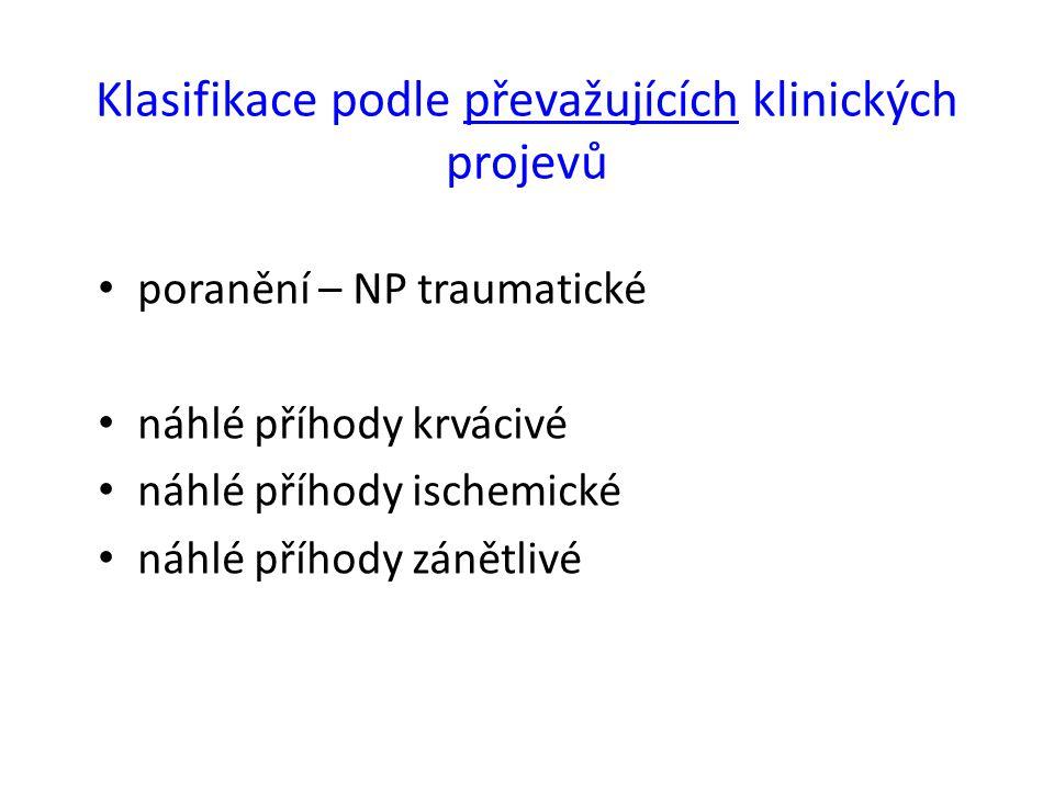 Klasifikace podle převažujících klinických projevů