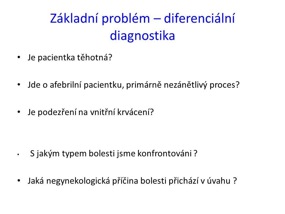 Základní problém – diferenciální diagnostika