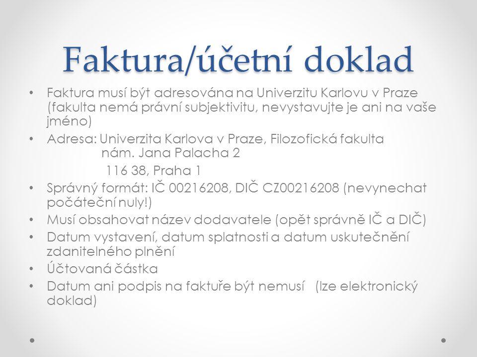 Faktura/účetní doklad