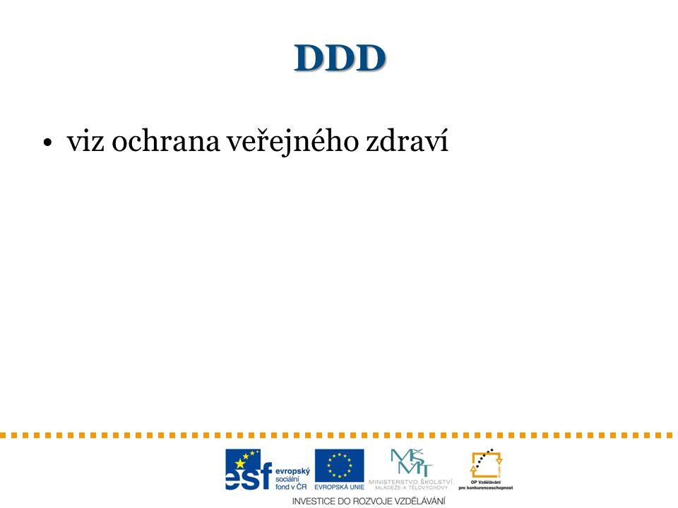 DDD viz ochrana veřejného zdraví