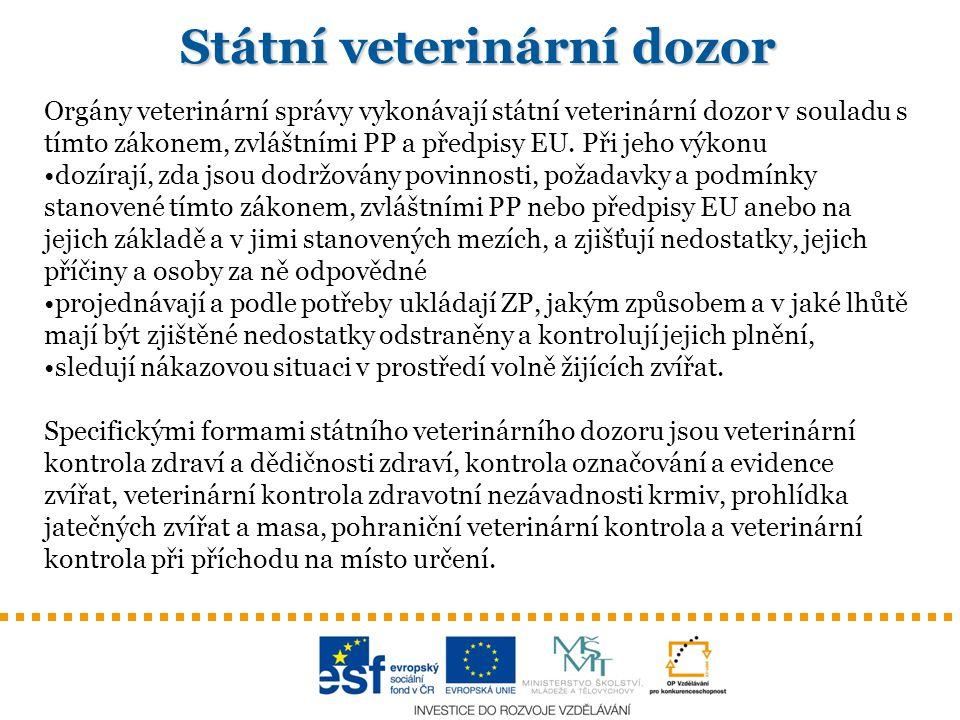 Státní veterinární dozor