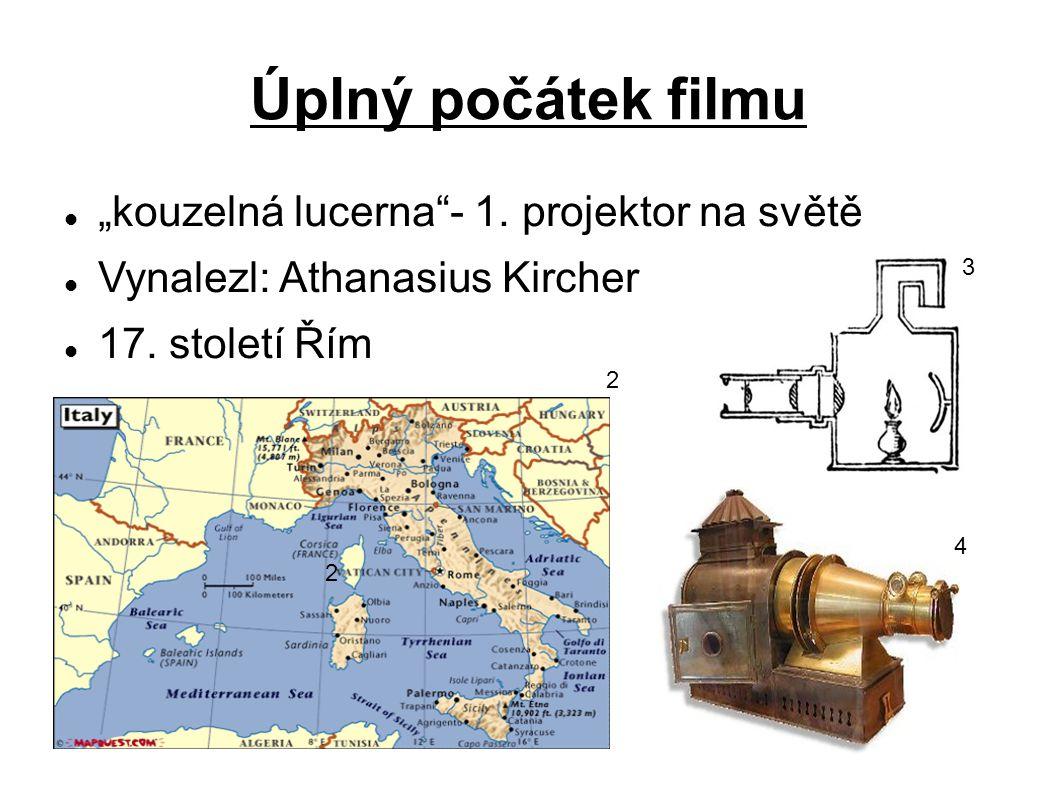"""Úplný počátek filmu """"kouzelná lucerna - 1. projektor na světě"""