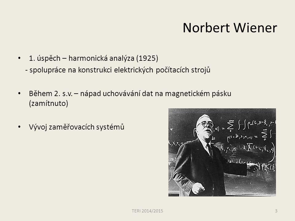 Norbert Wiener 1. úspěch – harmonická analýza (1925)