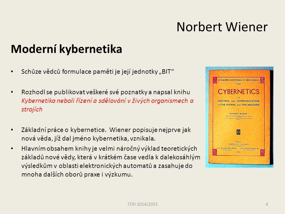 Norbert Wiener Moderní kybernetika