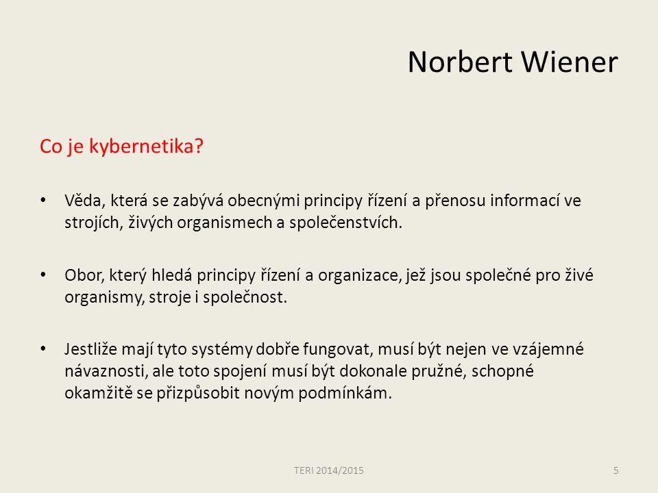 Norbert Wiener Co je kybernetika