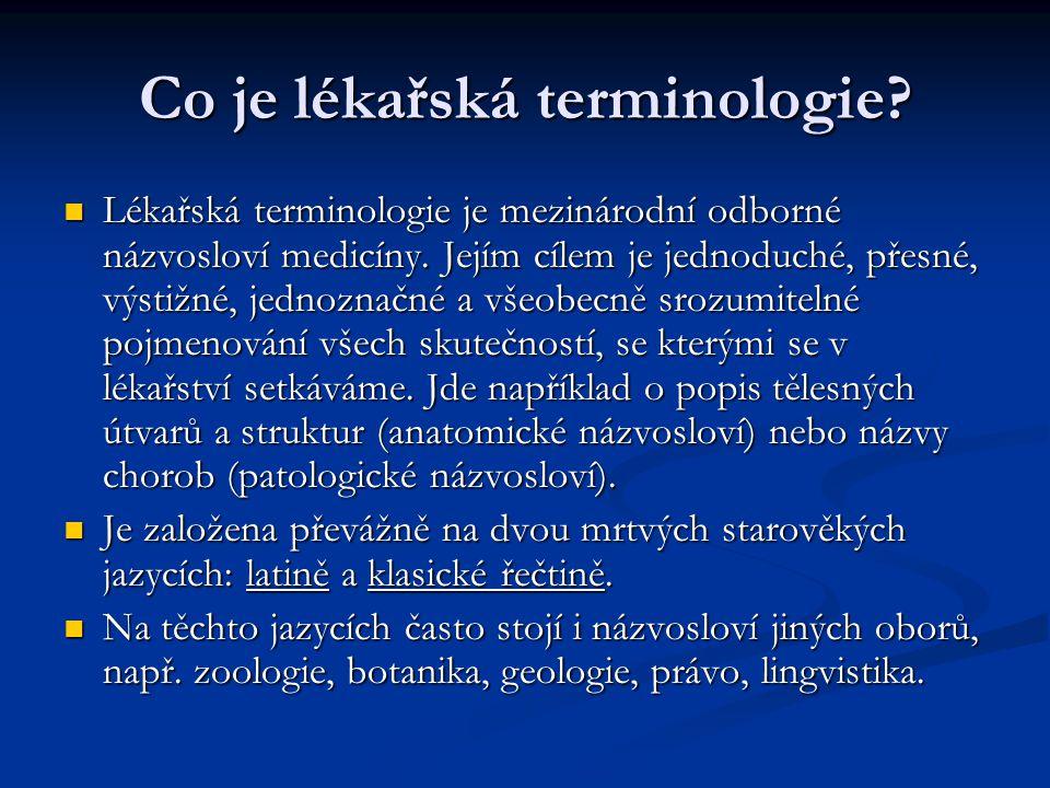 Co je lékařská terminologie