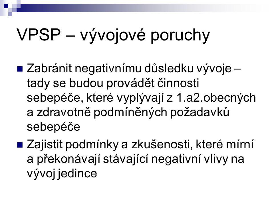 VPSP – vývojové poruchy
