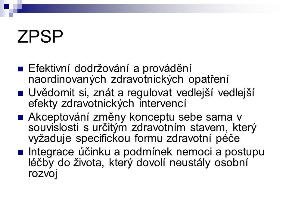 ZPSP Efektivní dodržování a provádění naordinovaných zdravotnických opatření.