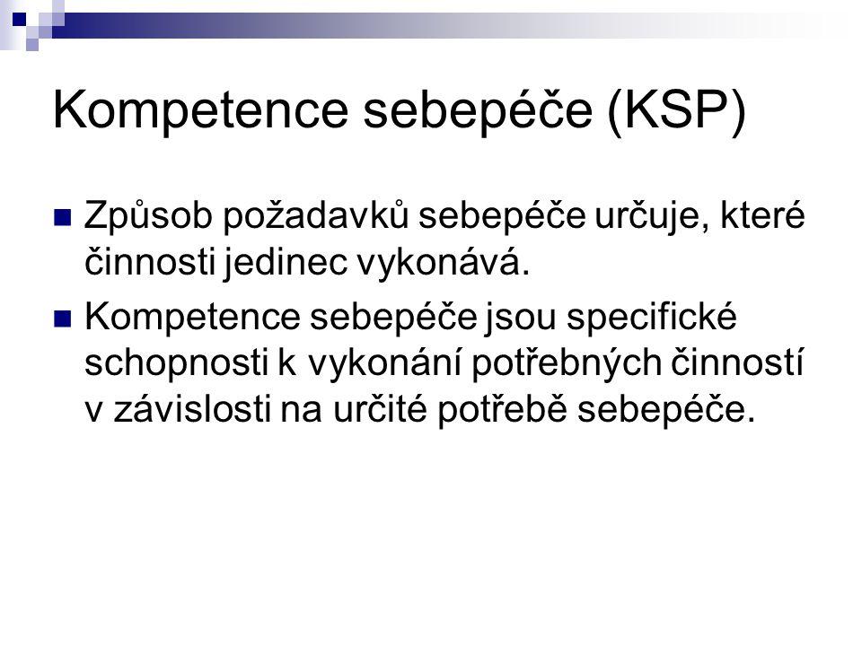 Kompetence sebepéče (KSP)