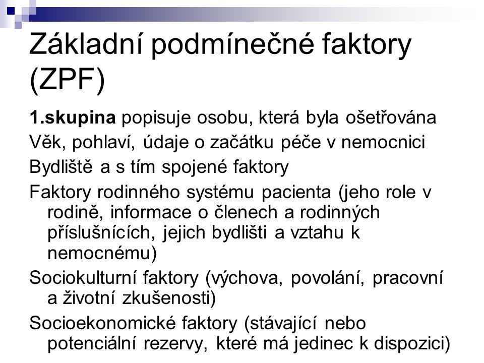Základní podmínečné faktory (ZPF)