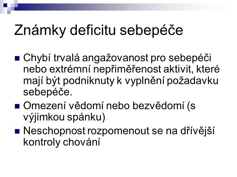 Známky deficitu sebepéče