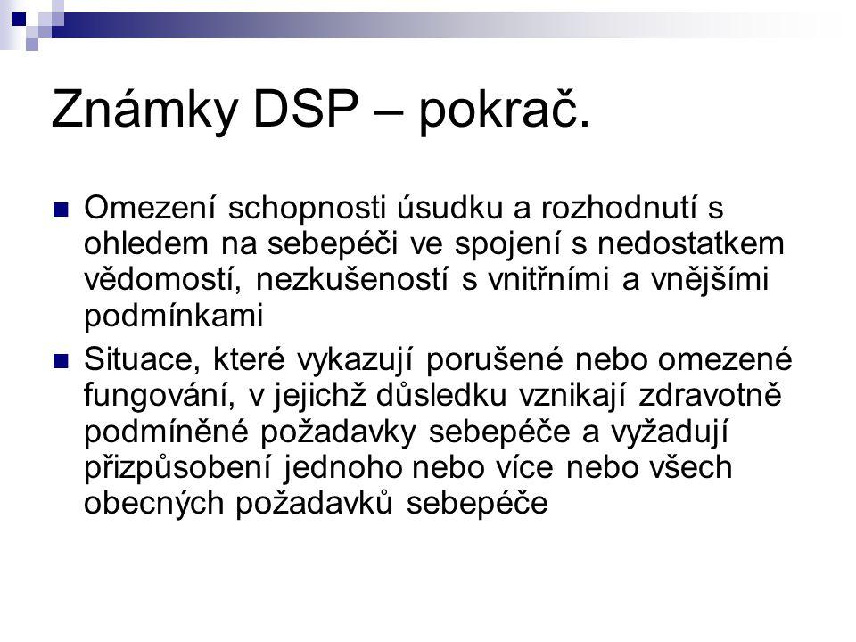 Známky DSP – pokrač.