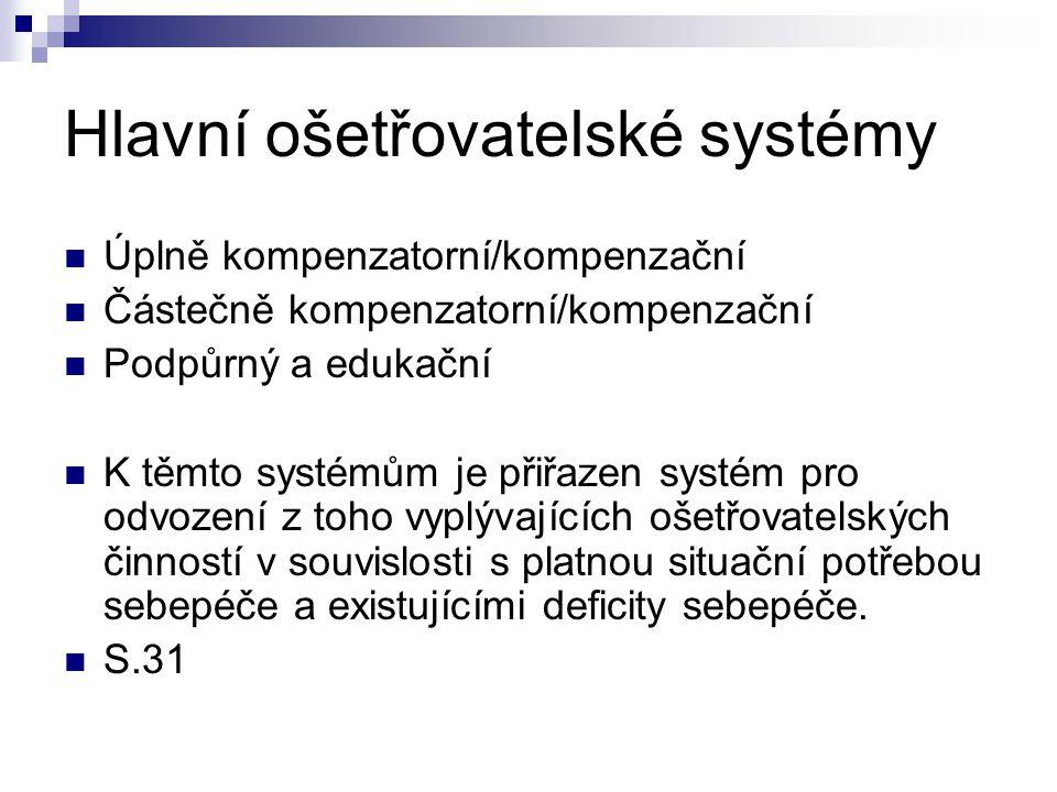 Hlavní ošetřovatelské systémy