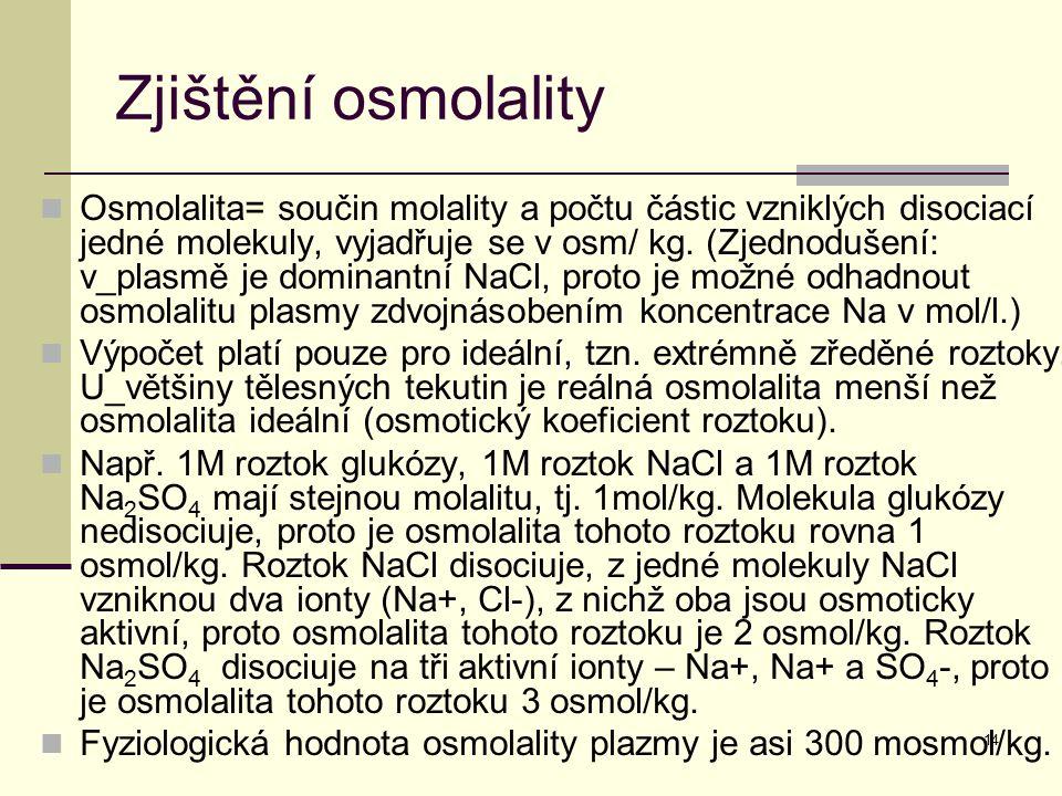 Zjištění osmolality