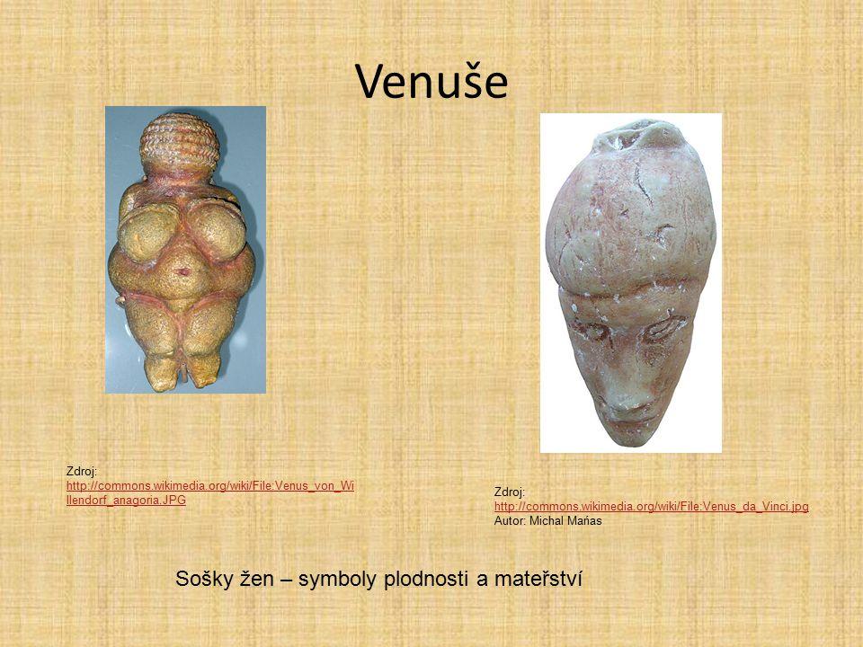 Venuše Sošky žen – symboly plodnosti a mateřství