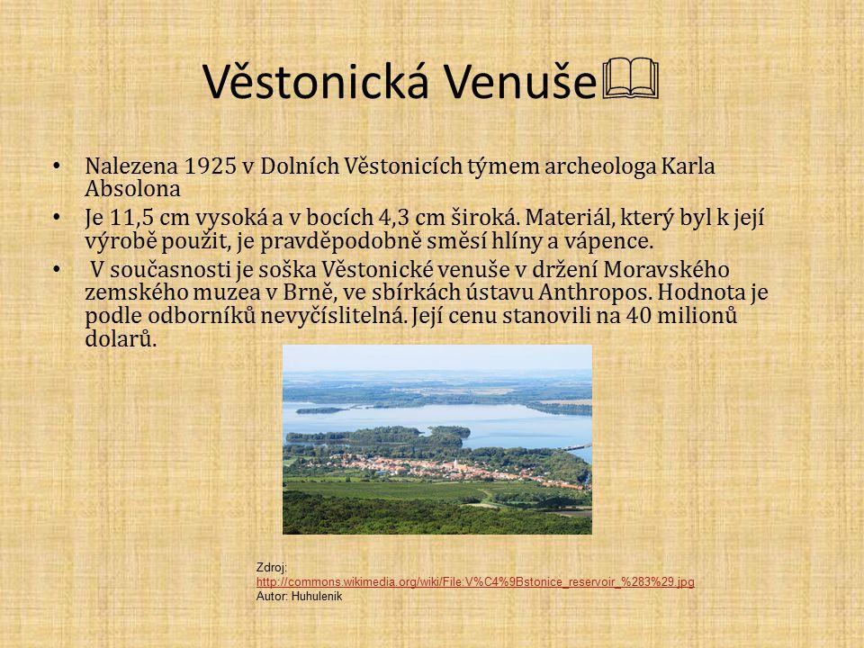 Věstonická Venuše Nalezena 1925 v Dolních Věstonicích týmem archeologa Karla Absolona.