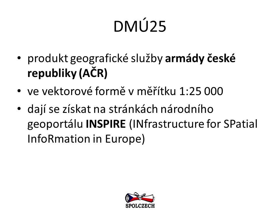 DMÚ25 produkt geografické služby armády české republiky (AČR)