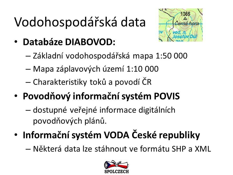 Vodohospodářská data Databáze DIABOVOD: