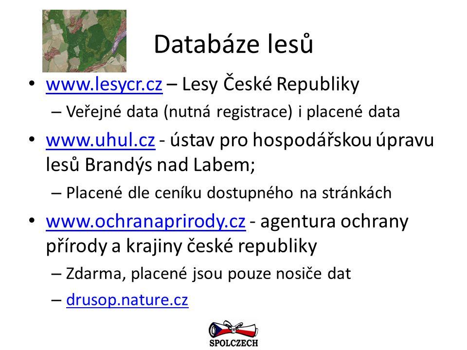 Databáze lesů www.lesycr.cz – Lesy České Republiky