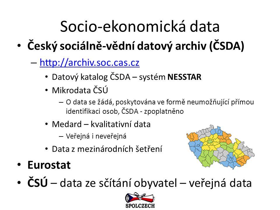 Socio-ekonomická data