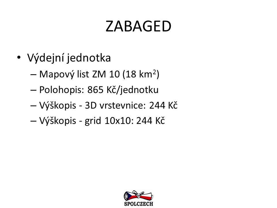 ZABAGED Výdejní jednotka Mapový list ZM 10 (18 km2)