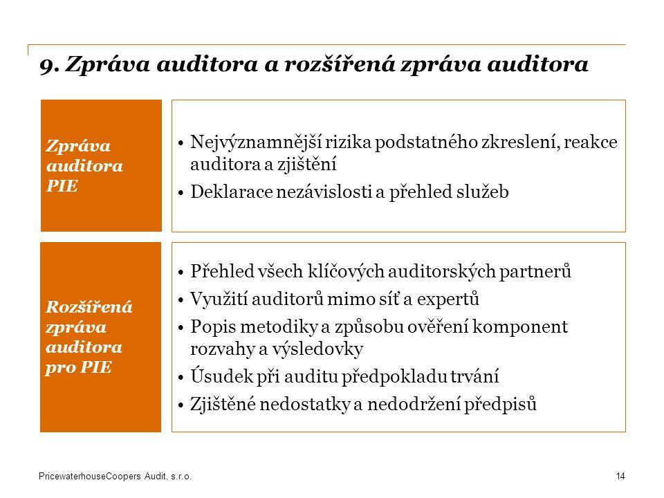 9. Zpráva auditora a rozšířená zpráva auditora
