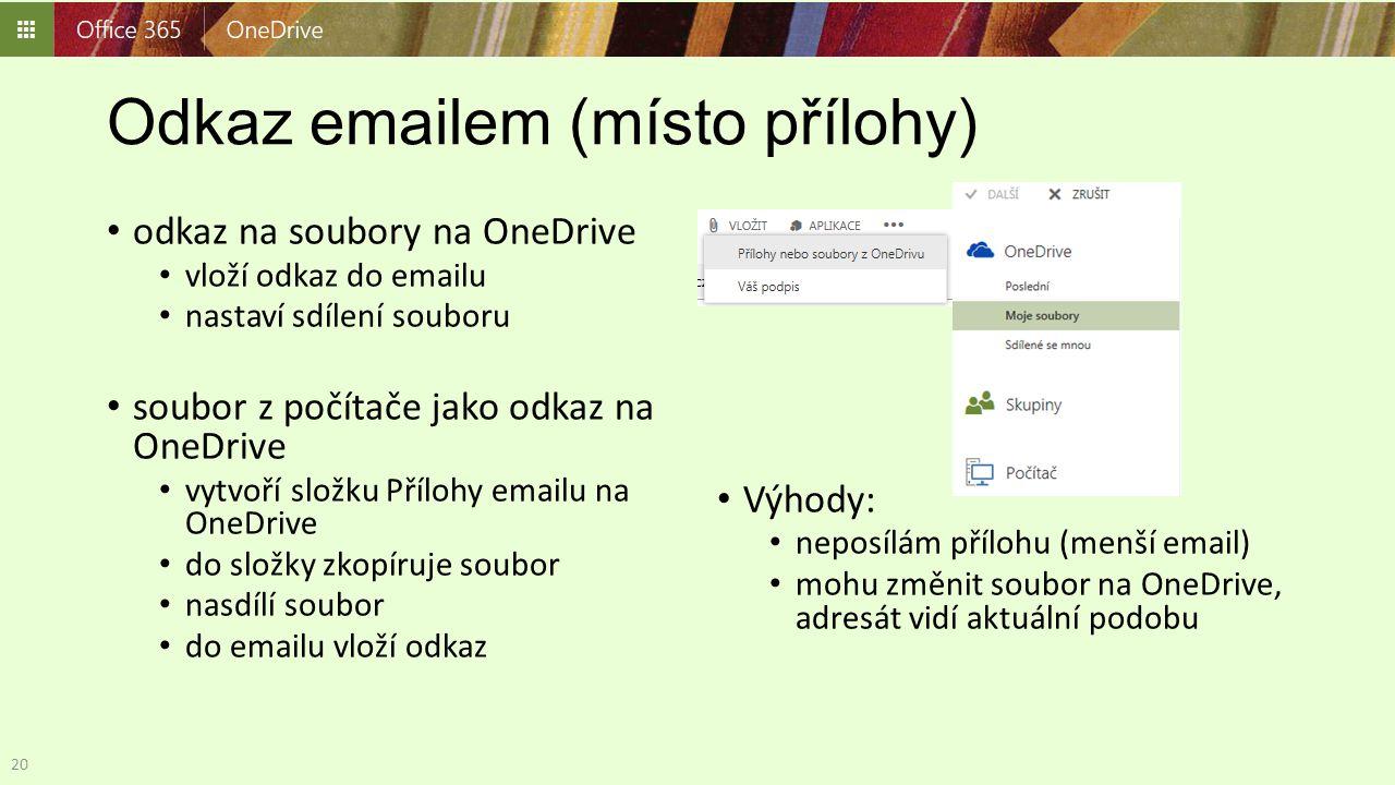 Odkaz emailem (místo přílohy)