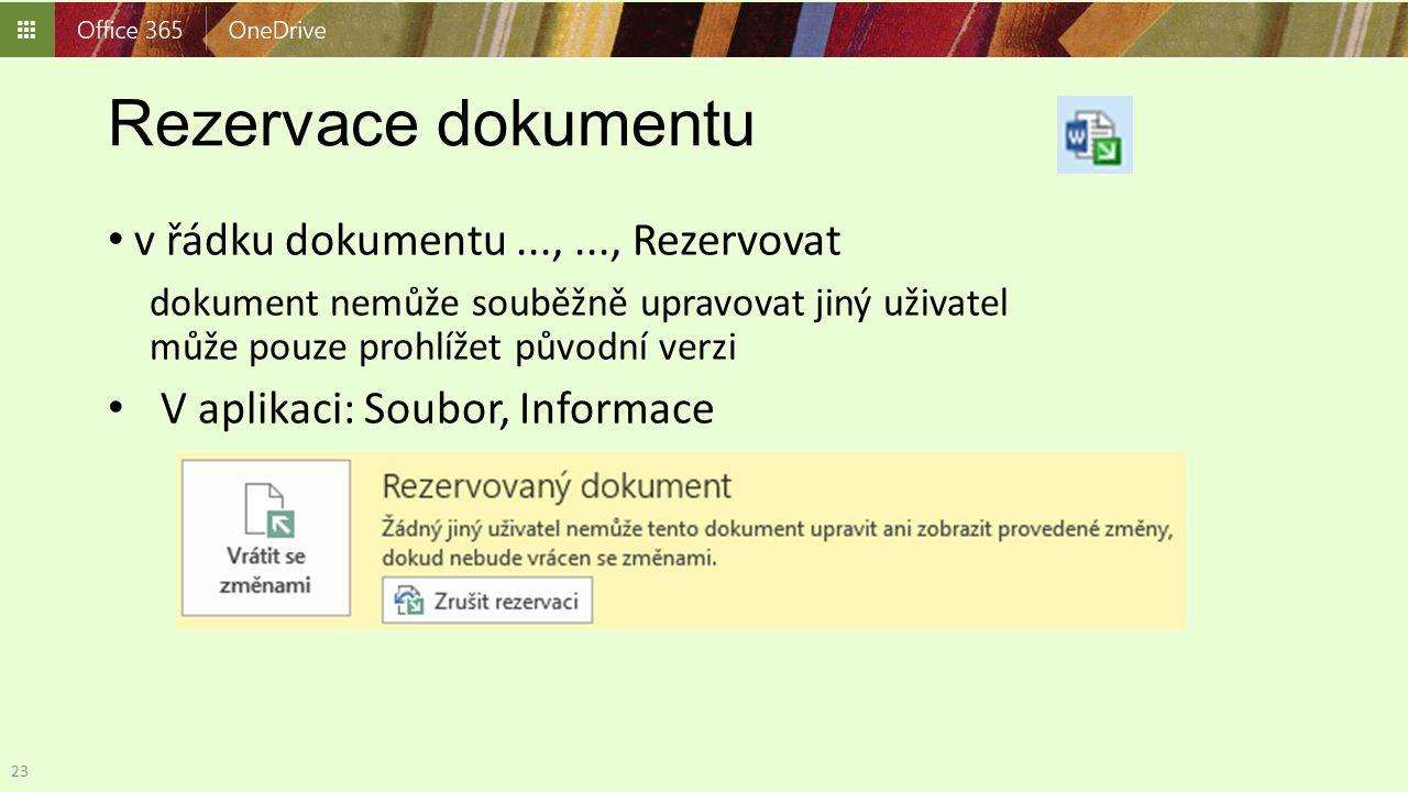 Rezervace dokumentu v řádku dokumentu ..., ..., Rezervovat