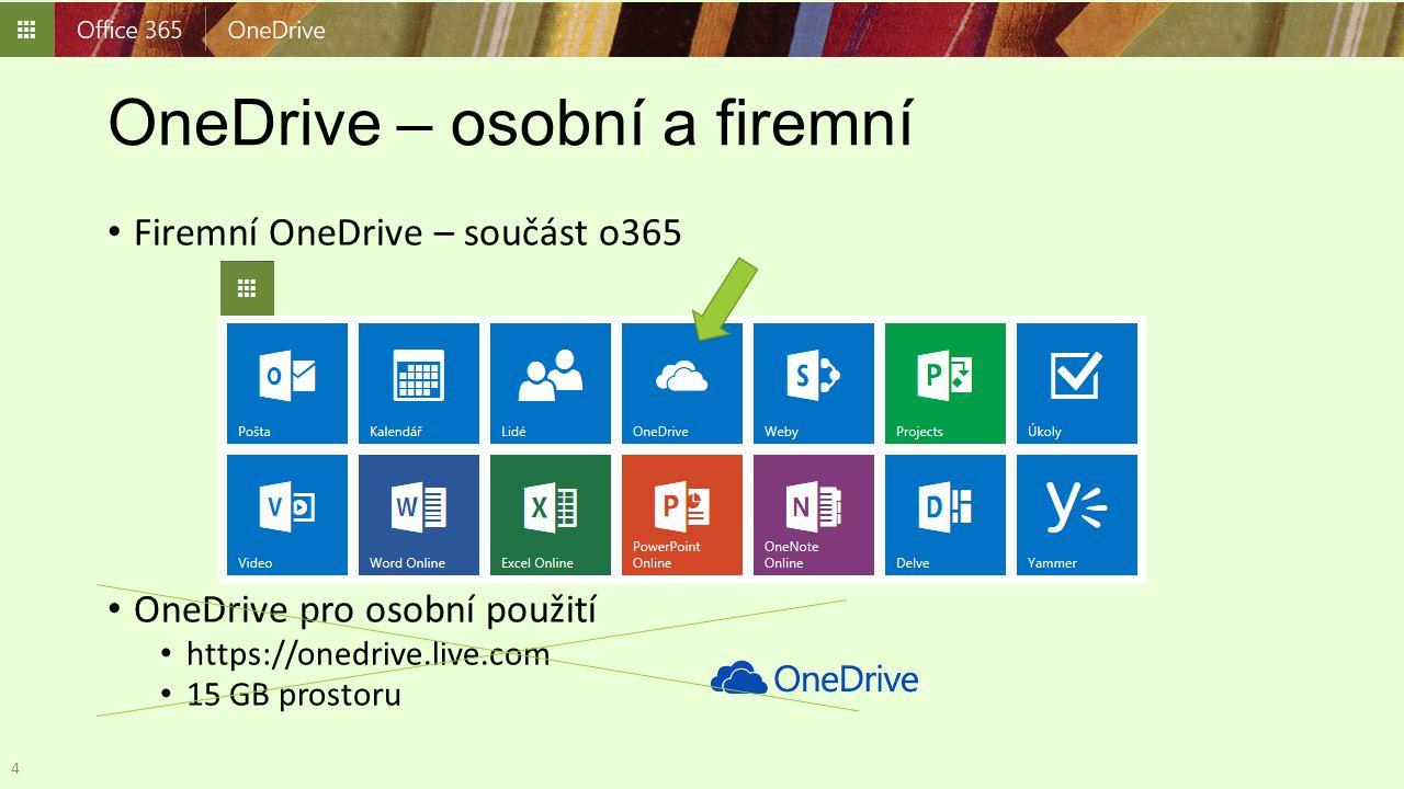 OneDrive – osobní a firemní