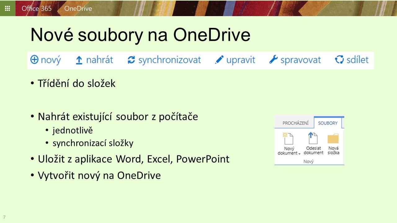 Nové soubory na OneDrive