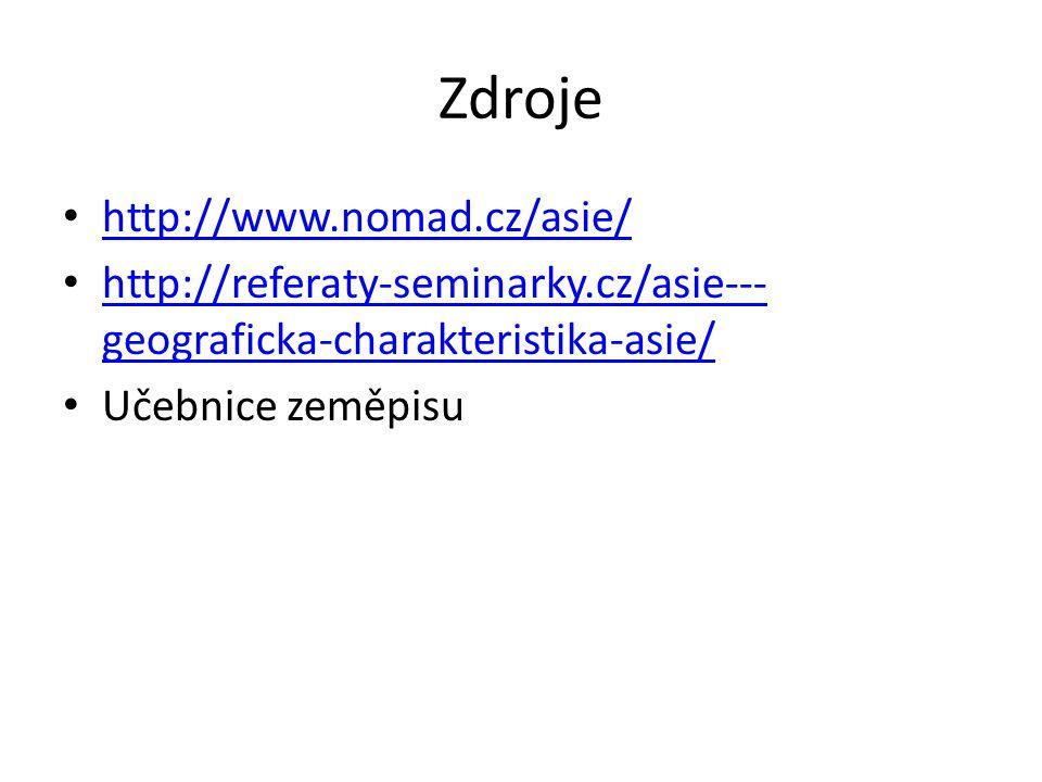 Zdroje http://www.nomad.cz/asie/