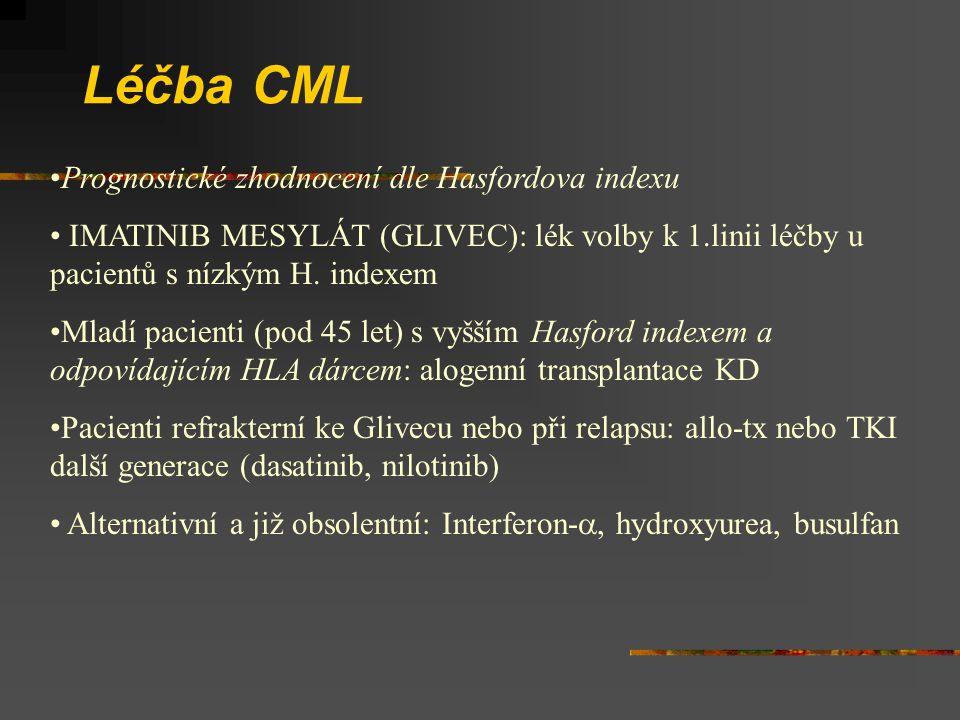 Léčba CML Prognostické zhodnocení dle Hasfordova indexu