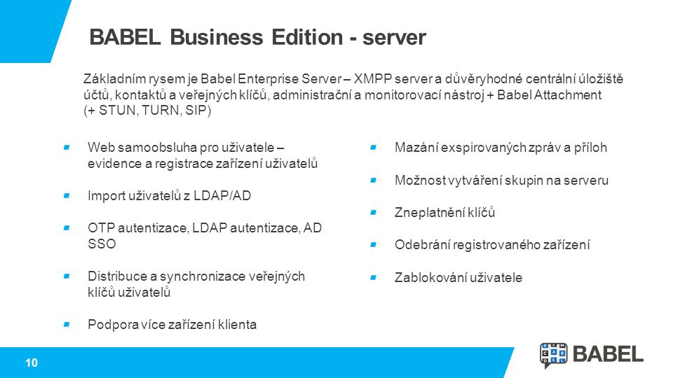 BABEL Business Edition - server