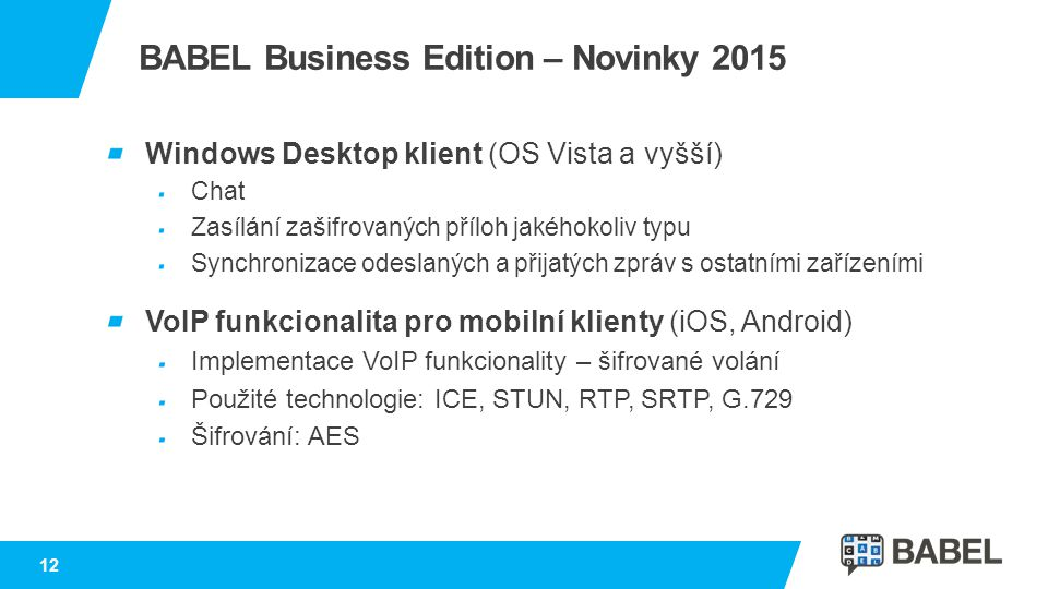 BABEL Business Edition – Novinky 2015