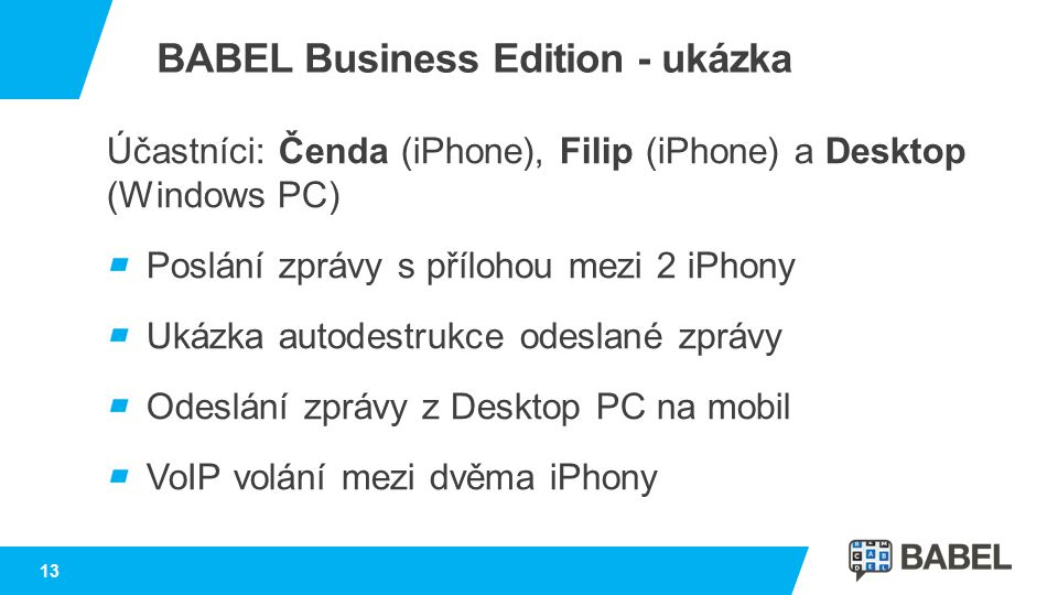 BABEL Business Edition - ukázka