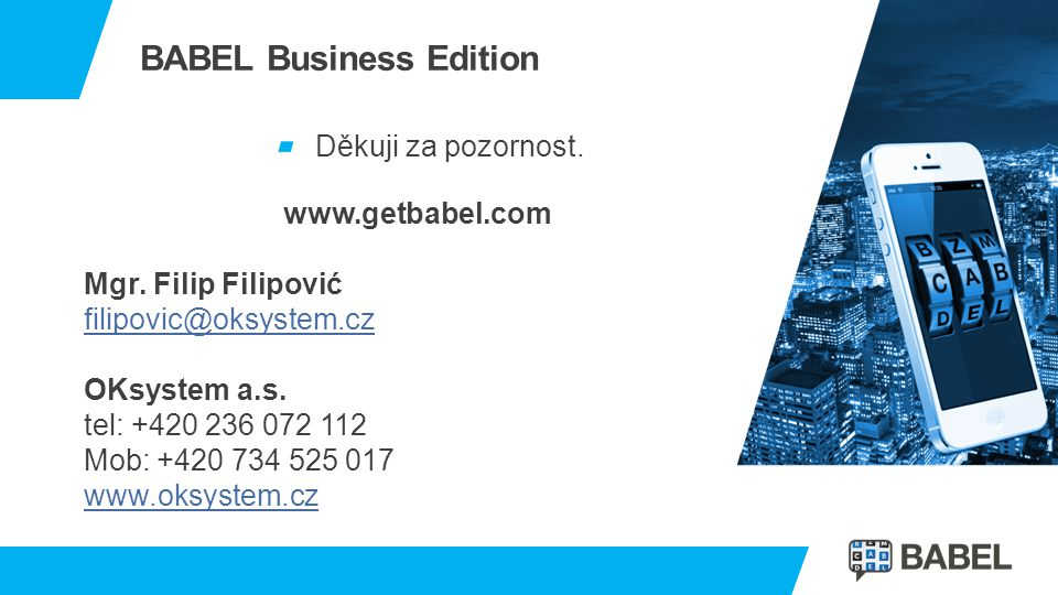 BABEL Business Edition