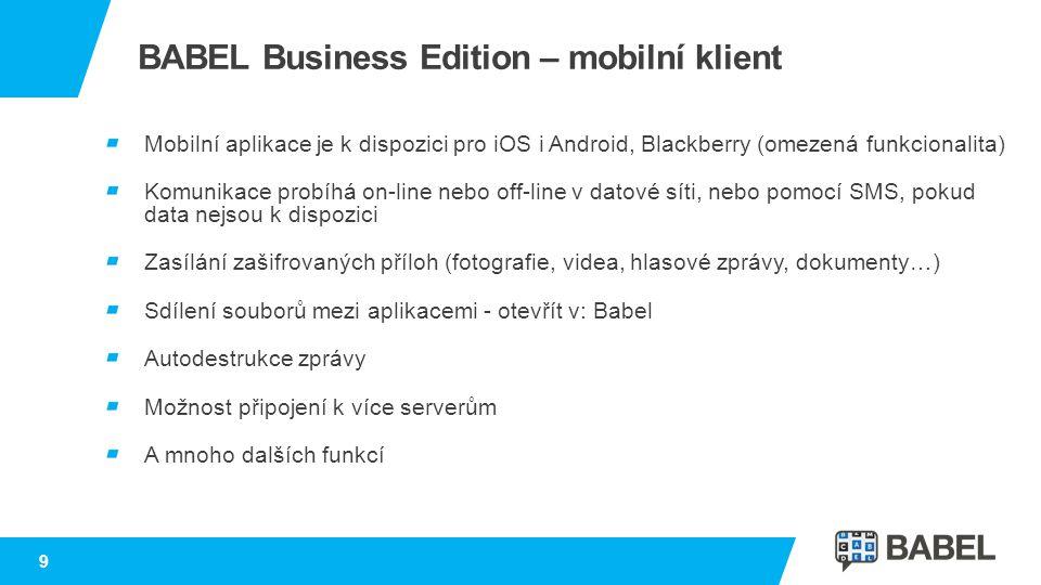 BABEL Business Edition – mobilní klient