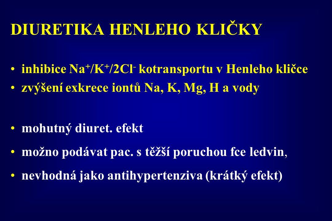 DIURETIKA HENLEHO KLIČKY