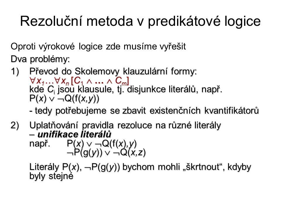 Rezoluční metoda v predikátové logice