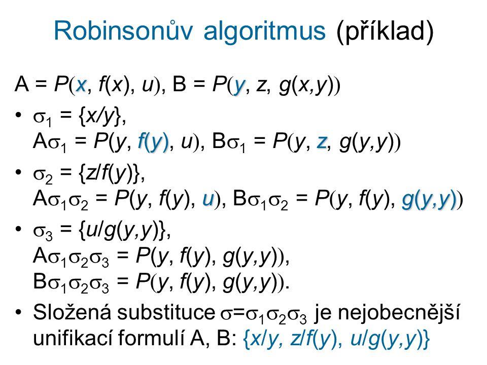 Robinsonův algoritmus (příklad)