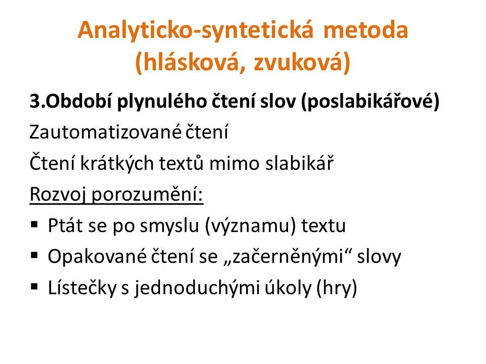 Analyticko-syntetická metoda (hlásková, zvuková)