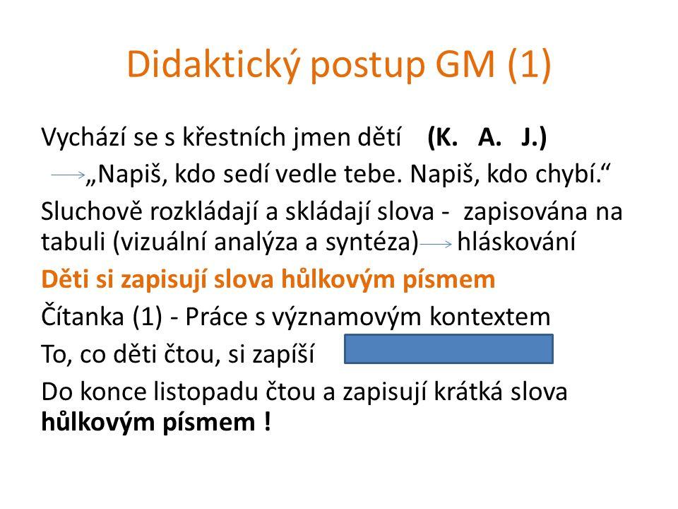 Didaktický postup GM (1)