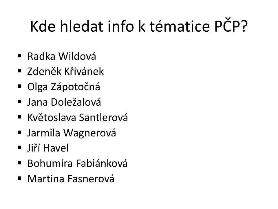 Kde hledat info k tématice PČP