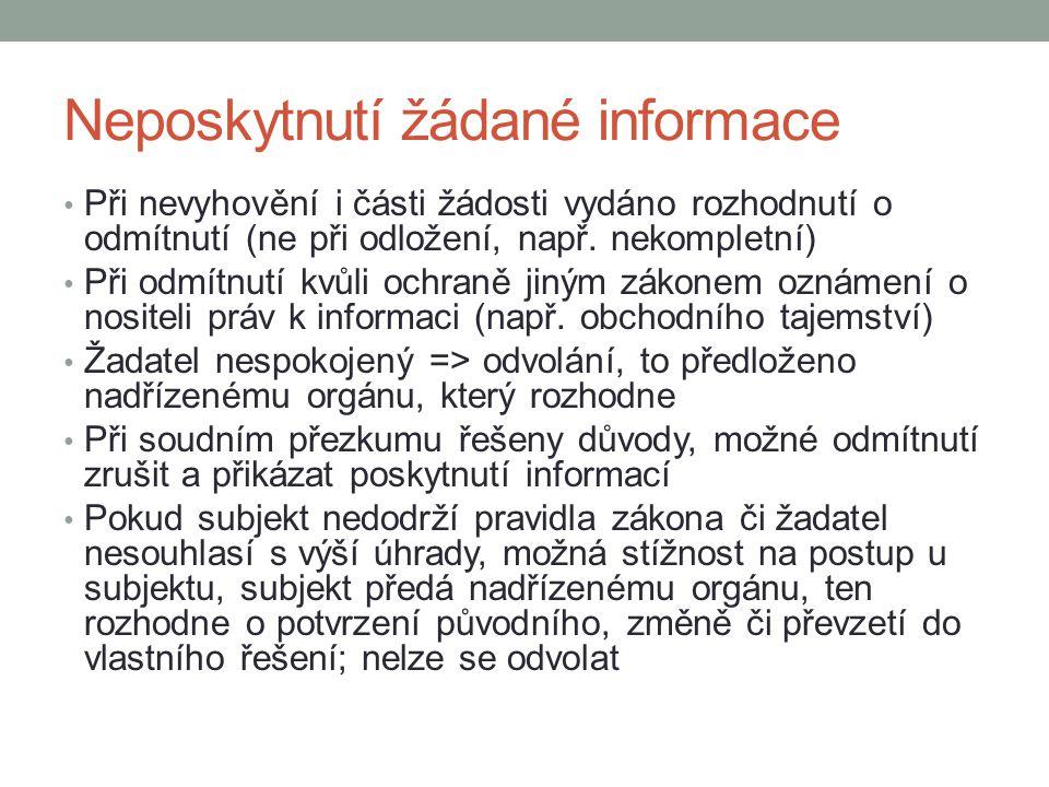 Neposkytnutí žádané informace