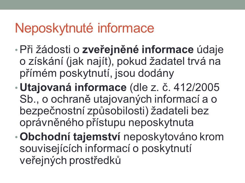 Neposkytnuté informace