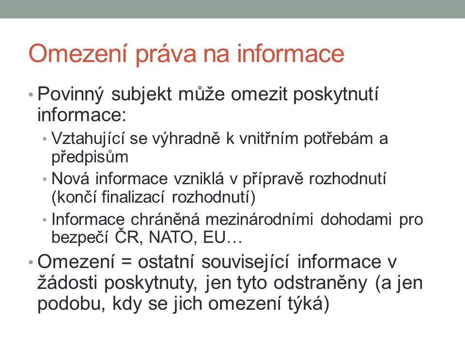 Omezení práva na informace