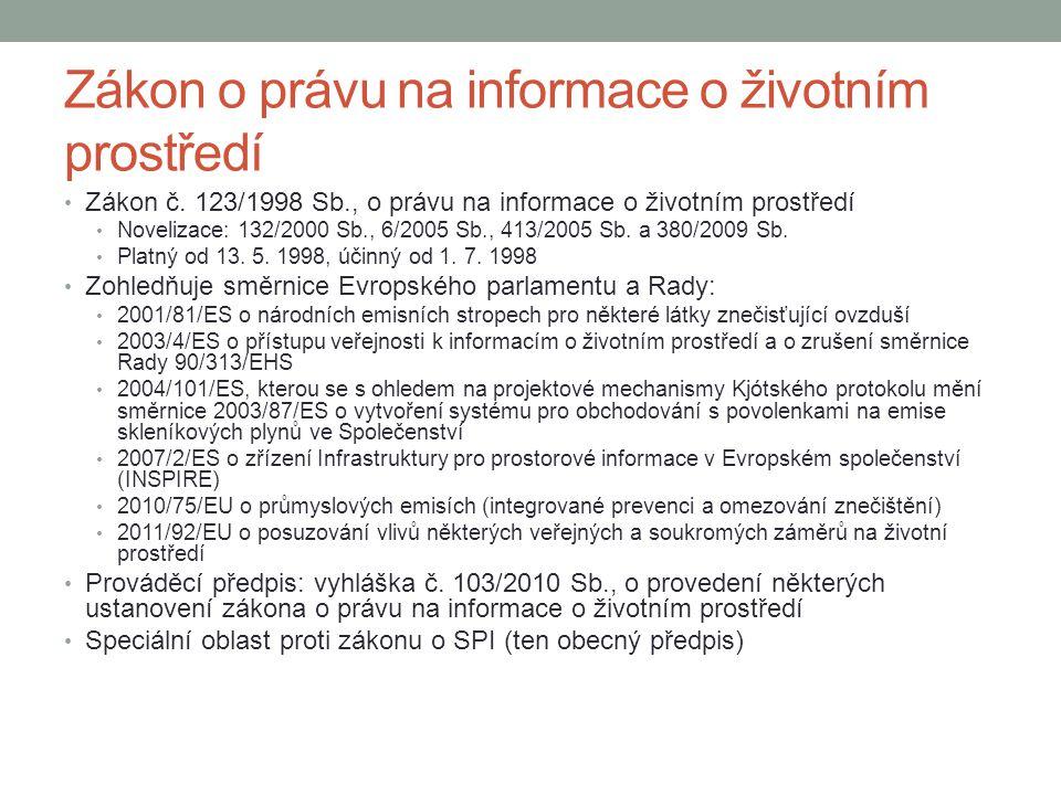 Zákon o právu na informace o životním prostředí